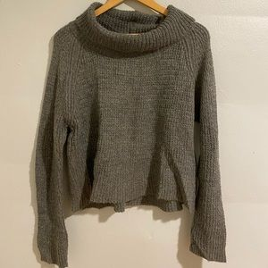 Kimchi Blue (UO) gray cowlneck sweater